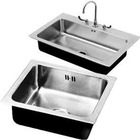 Just Manufacturing Drop-In Sinks W/Overflow Systems