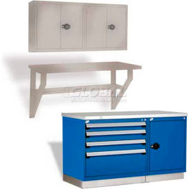 Rousseau Metal Wall-Mounted Workbenches