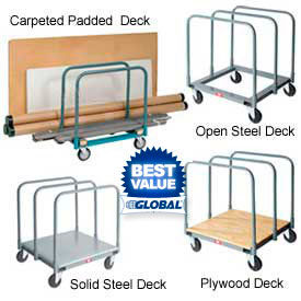 Panel & Sheet Mover Trucks - Steel, Wood Or Carpet Deck