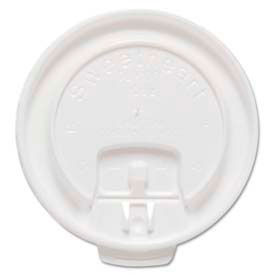 SOLO® Cup Company Lift Back & Lock Tab Cup Lids For Trophy® Insulated Thin-Wall Foam Hot/Cold Cups