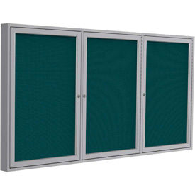 3 Door Enclosed Fabric Bulletin Boards