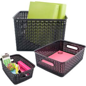 Advantus® Plastic Weave Bins