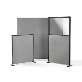 Storlie - Fabric Upholstered Office Partitions With or Without Plexiglass Window