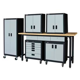 Steel Garage Furniture With Recessed Handles