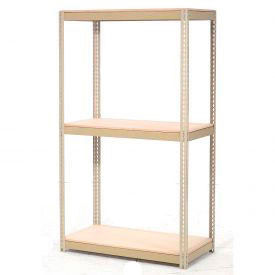 7'H Expandable Bulk Metal Storage Rack With Wood Deck