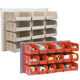 Wall Louvered Panels With Stacking Bins