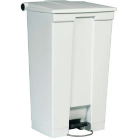 18 Gallon Rubbermaid Plastic Step On Trash Can - Red