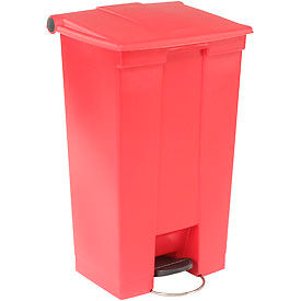 23 Gallon Rubbermaid Plastic Step On Trash Can - Red