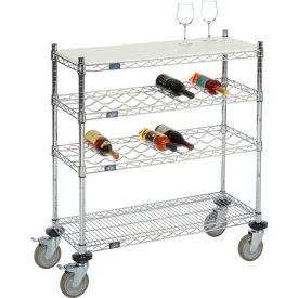 Nexel® Mobile Wire Wine Display Carts