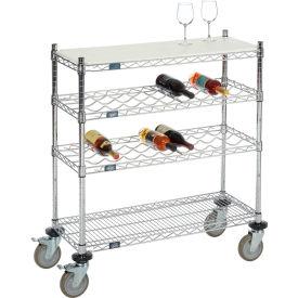 Nexel® Mobile Wire Wine Display Carts