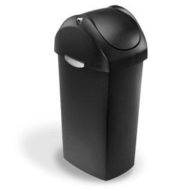 simplehuman® Plastic Swing Lid Waste Cans
