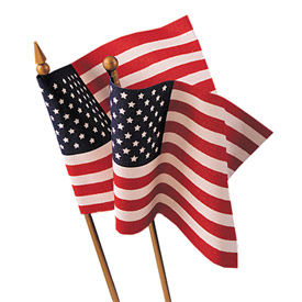 Annin® - No Fray Hand Held US Flags