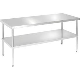 "Aero Manufacturing 4TS-3096 96""L x 30""W 16 Gauge Stainless Steel Workbench w/ Undershelf"