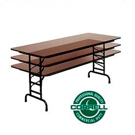 Correll -  Commercial Duty Height Adjustable Folding Tables
