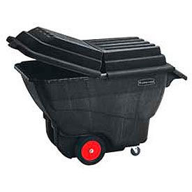 Rubbermaid Structural Foam Plastic Tilt Trucks - Up To 1 CU. YD. Capacity