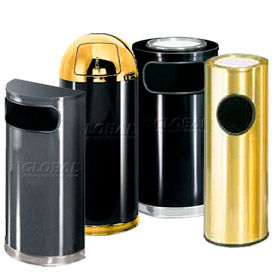 Designer Steel Waste Receptacles