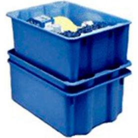 "Molded Fiberglass Nest and Stack Tote 780308 - 19-3/4"" x 12-1/2"" x 6"", Pkg Qty 10, Blue - Pkg Qty 10"