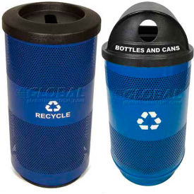 Stadium Series® Perforated Metal Recycling Containers
