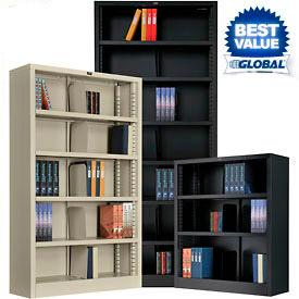 Interion™ Quick Adjust All Steel Bookcases - KD - 36