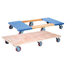 Six-Wheel Wood Deck Movers Dollies
