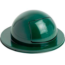Rubbermaid® FG1855EGN Steel 55 Gallon Self-Closing Dome Drum Top - Green