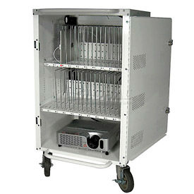 Buhl 30 Bay Tablet and iPad Charging & Storage Cart