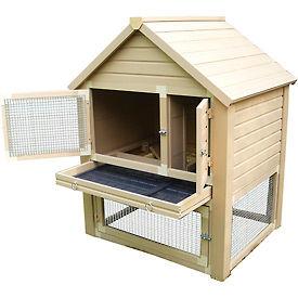 New Age Pet ecoConcepts Huntington Townhouse Rabbit & Pet Hutch