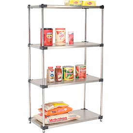 36x24x86 Stainless Steel Solid Shelving