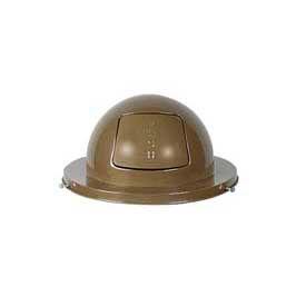 Rubbermaid® FG2030BR Steel 30 Gallon Self-Closing Dome Drum Top - Brown