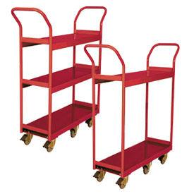 Wesco® Narrow Aisle Platform Shelf Carts