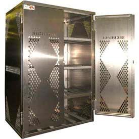 Assembled Aluminum LP / OG Cylinder Storage Cabinets