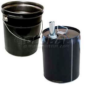 Assorted Steel Pails & Lids