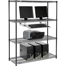 Wire shelf computer LAN Workstation