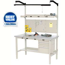 Heavy Duty Height Adjustable Production Bench - Tan