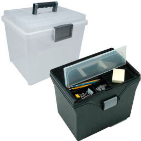 IRIS Portable Plastic File Boxes