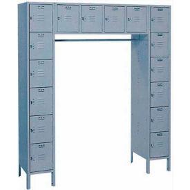 Lyon Locker DD5-990SU 16 Person 69x18x78 - 16 Doors Hasp Handle Assembled Gray