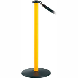 Pedestrian Barrier Rope Type Post Non-Reflective With Base