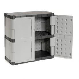 Rubbermaid 7085 Plastic Storage Cabinet Base Double Door 36 W X