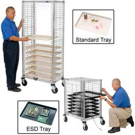 Chrome Wire Tray Carts, Trucks And Plastic Trays