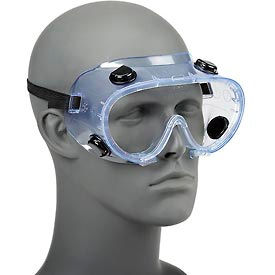 ERB™ 15145 Chemical Splash Resistant Goggles - Standard, Clear Lens, Black Straps - Pkg Qty 24