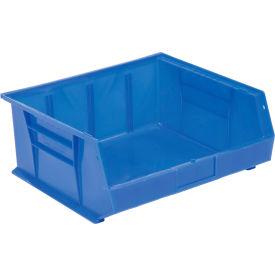Global™ Hanging & Stacking Storage Bin 16-1/2 x 14-3/4 x 7, Blue - Pkg Qty 6