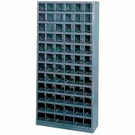 Steel Storage Bin Cabinet 36x18x75, 72 Compartments