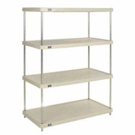 """Plastic Shelving Unit 48""""Wx24""""Dx63""""H Solid Shelf"""