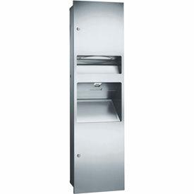 ASI® 3-In-1 Dispenser, Receptacle & Hand Dryer