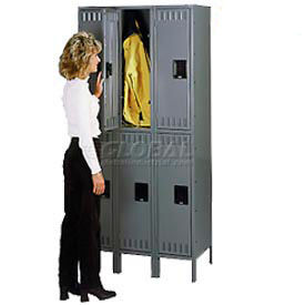 Tennsco Ready To Assemble Steel Locker With Recessed Handle