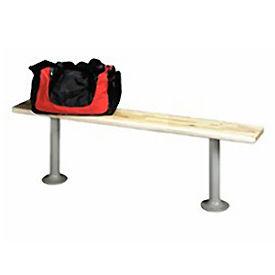 "Tennsco Locker Bench Bolt Down HMLBP-108  Hardwood Top with Steel Pedestals 108""W"