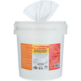 2XL No Rinse Food Service Sanitizing Wipes Bucket, 500 Wipes/Bucket, 2 Buckets/Case - 2XL-445