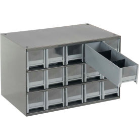 "Akro-Mils Steel Small Parts Storage Cabinet 19715 - 17""W x 11""D x 11""H w/ 15 Gray Drawers"