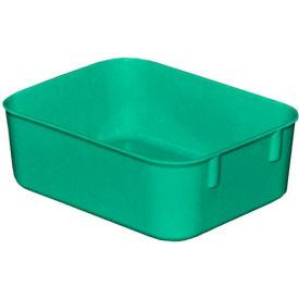 "Molded Fiberglass Toteline Nesting Tote 921108 - 6-1/8 ""L x 4-7/8""W x 2-1/8""H, Green"