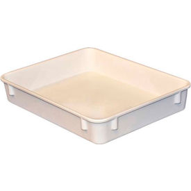 "Molded Fiberglass Toteline Nesting Tote 930108 - 12-3/8""L x 9-3/4""W x 2-1/8""H, White"